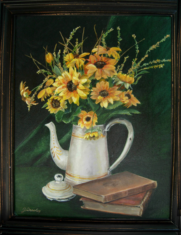 Sunflowers in Teapot