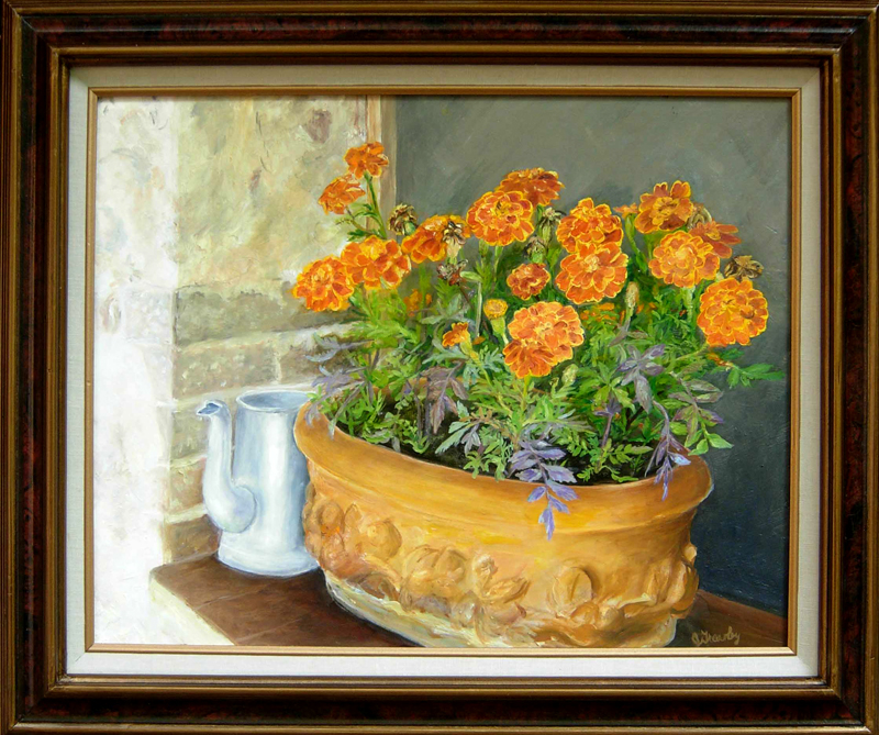 Marigolds in Il Bareto Window