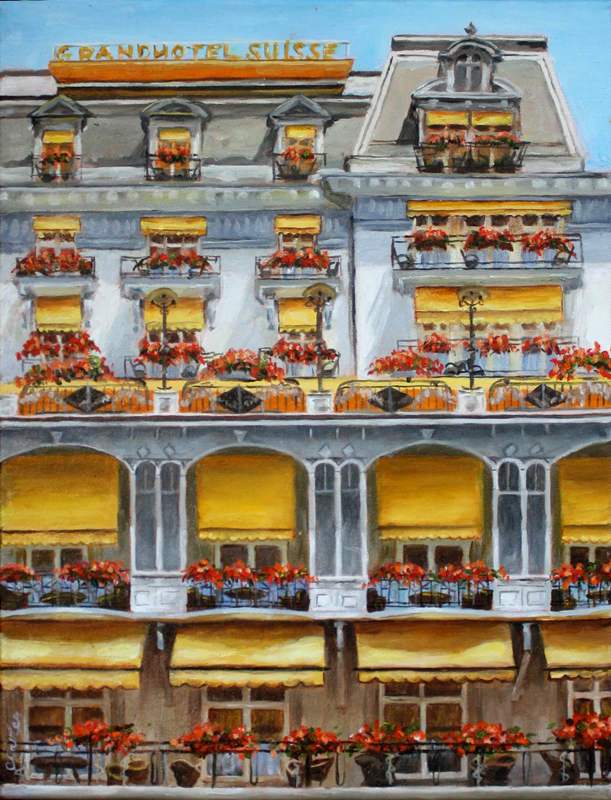 Yellow Awnings in Montreaux